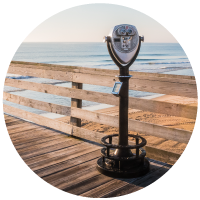 Image of boardwalk looking out over ocean