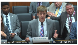 Testifying at T&I committee hearing, July 2019