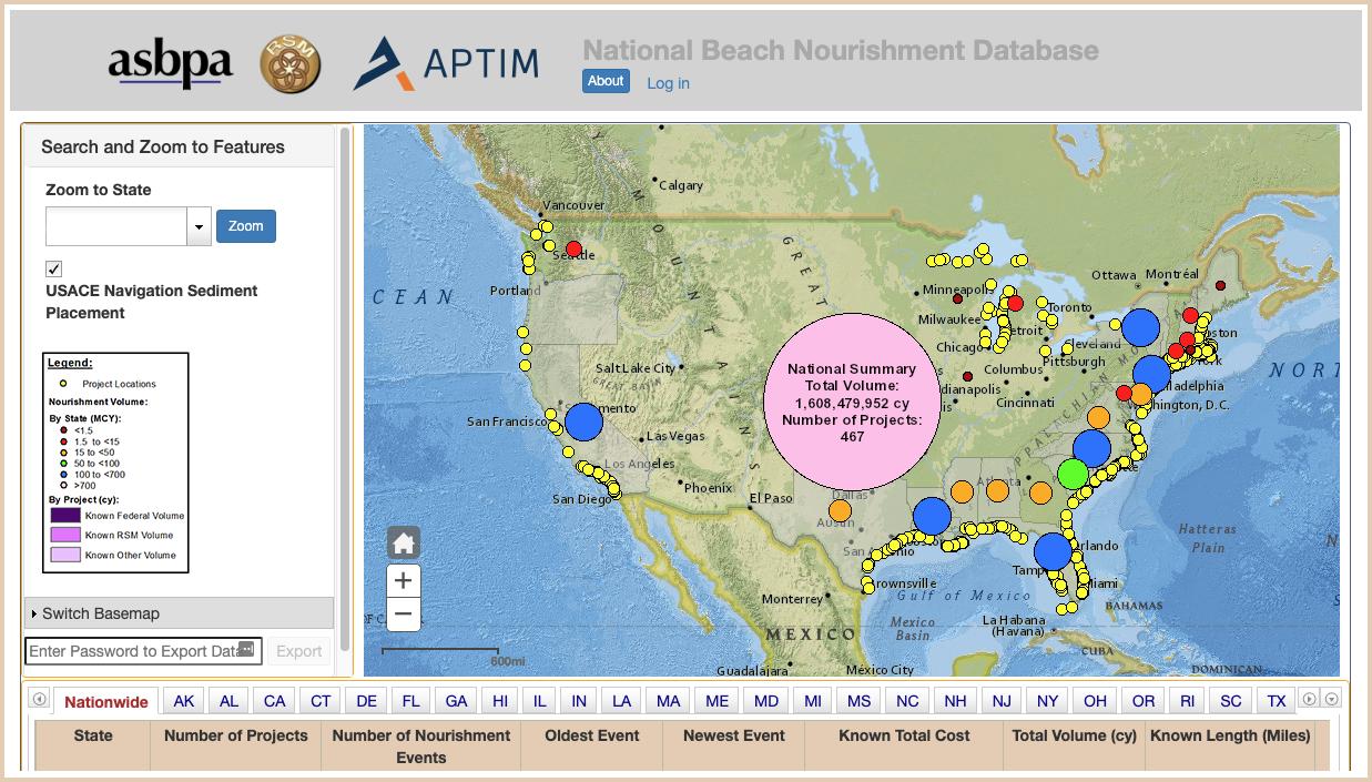 National Beach Nourishment Database